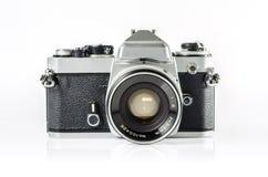 Retro fotokamera som isoleras på vit: Snabb bana Fotografering för Bildbyråer