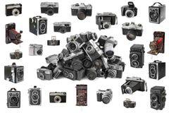 Retro- Fotokameras Stockfotos
