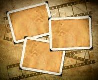 Retro- Fotorahmen, altes Papier, filmstrip Stockbilder