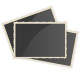 Retro fotoram på vit bakgrund Royaltyfri Fotografi