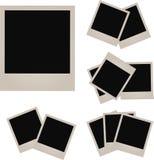 Retro fotoram på vit bakgrund också vektor för coreldrawillustration Royaltyfri Bild
