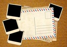 Retro- Fotos und alte Postkarte Lizenzfreies Stockbild