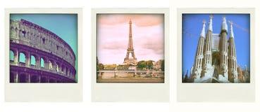 Retro- Fotos von irgendwelchen Reisen Stockbilder
