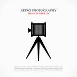 Retro fotosymbol vektor illustrationer