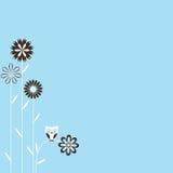 Retro- Frühlings-Hintergrund Stockbilder