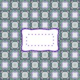 Retro fractal turquoise violet pattern with copy space Royalty Free Stock Photo