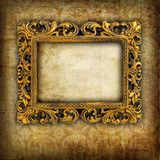 Retro frame. Over grunge wallpaper Royalty Free Stock Images