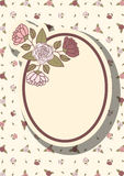 Retro frame with abstract flowers, event design Stock Photography