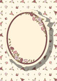 Retro frame with abstract flowers, event design Royalty Free Stock Images