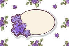 Retro frame with abstract roses. Retro frame with abstarct roses. Event design template royalty free illustration