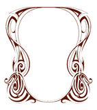 Retro frame. In art nouveau style with copy space Stock Image