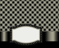 Retro frame / background. Black gingham / squares background with frame. specially occasion greeting cards & invitations Stock Photos