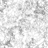 Retro frame background with abstract trees Royalty Free Stock Photos