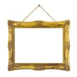 Retro frame bij koord royalty-vrije stock foto
