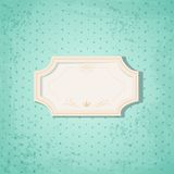 Retro Frame on Blue Spotted Background Royalty Free Stock Images