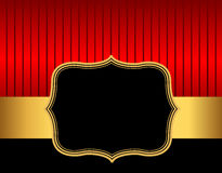 Retro frame / border red and gold Stock Photo
