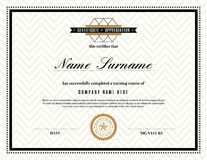 Retro frame certificate of appreciation template