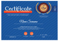 Retro frame certificate template Vector Royalty Free Stock Photo