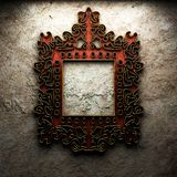 Retro frame on concrete wall Royalty Free Stock Image