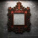 Retro frame on concrete wall Stock Images