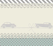 Retro frame  with cute background. Retro frame for your designs Stock Photography