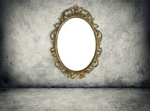 Retro frame on grunge wall Stock Photography