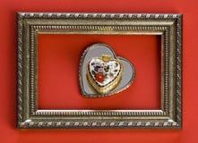 Retro frame with hearts Royalty Free Stock Photos