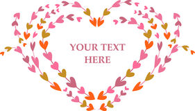 Retro frame with hearts pattern Stock Image