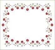 Retro frame met rozen. stock illustratie