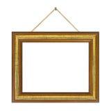 Retro frame op koord royalty-vrije stock foto