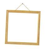 Retro frame op koord stock afbeelding