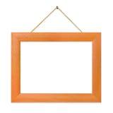 Retro frame op koord stock foto's
