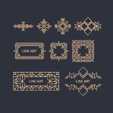 Retro Frame with Place for Text. Vintage Decoration Element. Royalty Free Stock Image