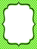 Retro frame. With polka dots  pattern on green background Royalty Free Stock Photo