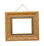 Retro frame on rope Royalty Free Stock Images