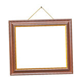 Retro frame on rope Stock Photography
