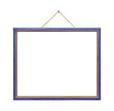 Retro frame on rope Royalty Free Stock Image
