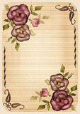 Retro frame with roses Royalty Free Stock Image