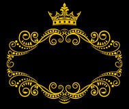 Retro frame with royal crown Stock Images