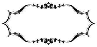 Retro frame silhouet Royalty-vrije Stock Foto's