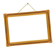 Retro frame on string Stock Photo