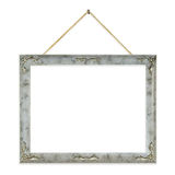 Retro frame on string. Isolated on white background Stock Images