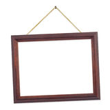 Retro frame on string Royalty Free Stock Photo