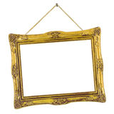Retro frame at string Stock Photography