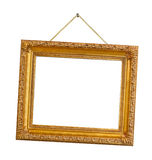 Retro frame on string Stock Images