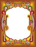 Retro Frame van Cirkels Royalty-vrije Stock Foto's