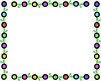Retro Frame van Gekleurde Cirkels en Bladeren stock illustratie