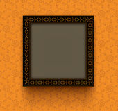 Retro frame was verfraaid decoratief ornament Stock Foto