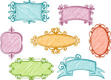 Retro frames royalty-vrije illustratie