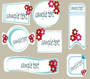 Retro frames. Stickers and tag with space for text,  illustration Stock Images
